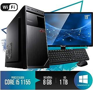 "PC Completo Intel Core i5, 8GB Ram, HD 1TB, Monitor 18,5"" LED, Teclado, Mouse e Wi-fi"