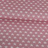 Gobelinstoff Sterne rosa Canvasstoff Doubleface - Preis