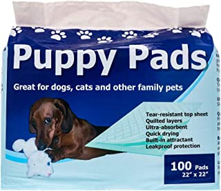 StayDry Pee Pads for Dogs - Super Absorbent and Leak Proof Dog Pee Pads - Puppy Crate Training - Puppy Pads 100 Count - 22