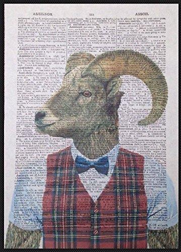 Parksmoonprints Impression page de dictionnaire vintage Motif moutons
