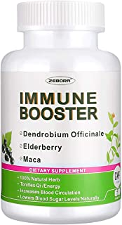 Elderberry Immune Booster Support Healthy-Respiratory-System - Sambucus Herbal Increases Blood Circulation w/Dendrobium Of...