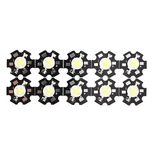 luz de estrella LED - SODIAL(R) 10 pzs 1W Bombilla lampara luz LED