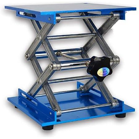 "Lab Jack Stand Table Lift Laboratory Lift Table Aluminium Oxide Lab Stand Lifter Scientific Scissor Lifting Jack Platform (8""X8"")"