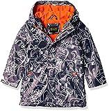 iXtreme Little Boys Hooded Waterproof Rain Slicker Jacket, Navy, 5