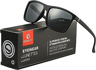 DeBuff Mens Square Polarized Sunglasses Stylish Driving Sun Glasses – TAC, UV400