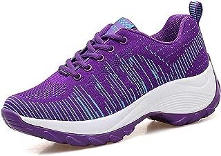 JOYBI Womens Running Sneakers Lightweight Breathable Shoes Mesh Tennis Shoes Sport Outdoor Platform Walking Shoes