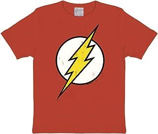 Logoshirt Camiseta para niño Flash - Logotipo, DC Comics - Flash - Logo - Camiseta con Cuello Redondo Rojo - Diseño Origin...