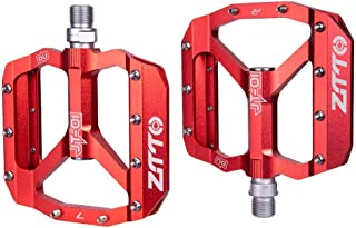 Nesee Bicycle Pedals - Mountain Bike Pedals - Alloy Cycling Sealed 3 Bearing Bike Pedals - Road Bike Pedals w/ 20 Anti-Skid Pins