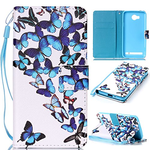 Compatible with Handyhülle Huawei Y3 II / Y3 2 (4,5 Zoll) Hülle, Bunt PU Leder Brieftasche Schutzhülle Bookstyle Flip Case Wallet Cover mit Standfunktion