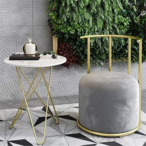 Yamyannie Silla de Sofá Nordic Hogar Ocio Solidera Individual Silla Milk Tea Shop Cafe Simple Lounge Sillill para Casa (Color : Gris, Size : 56x56x71cm)