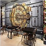 Zybnb Mural 3D Gear barra de papel tapiz de metal pesado industrial KTV tienda de ropa bar de Internet papel tapiz reloj de brújula papel tapiz mural