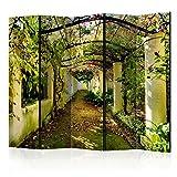 murando Raumteiler Pergola Natur Foto Paravent 225x172 cm beidseitig auf Vlies-Leinwand Bedruckt Trennwand Spanische Wand Sichtschutz Raumtrenner c-C-0089-z-c