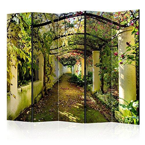 murando Raumteiler Pergola Natur Foto Paravent 225x172 cm einseitig auf Vlies-Leinwand Bedruckt Trennwand Spanische Wand Sichtschutz Raumtrenner c-C-0089-z-c