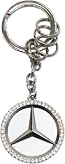 Mercedes Benz Star Key Ring w/Swarovski Crystals
