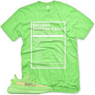 New SUCCESS FACTS T Shirt for Adidas Yeezy Boost 350 v2 Glow In The Dark