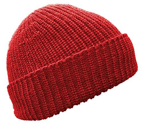 Blauer Peter - Troyer - Cappello a Maglia - Merino - 8 Colori, Colore:Rosso