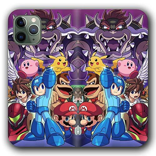 Carcasa para iPhone 11 Pro Flip de piel sintética con ranuras para tarjetas de crédito, diseño de Pikachu 7 P-298