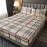 Látex para dormir Colchón de enfriamiento de verano Doble individual king Almohadillas de aire acondicionado suaves ajustable Dormitorio Apartamento de ropa de cama antideslizante-180x200(1pcs)13