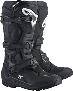 Alpinestars Tech 3 Enduro Motocross Off-Road Boots 2018 Version, Black, Men's Size 9