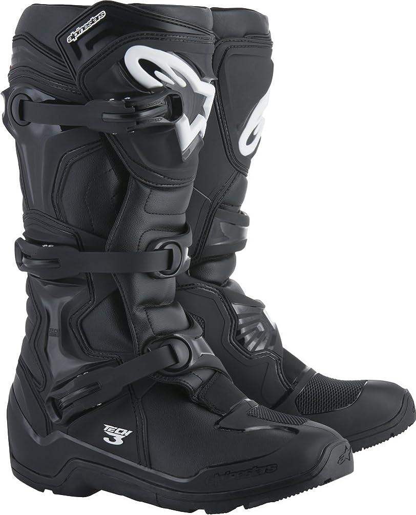 Alpinestars Tech 3 Enduro Motocross Off-Road Boots 2018 Version, Black, Men's Size 13