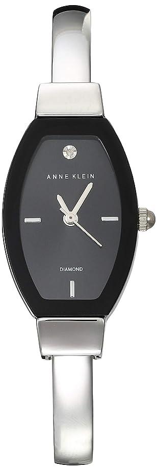 Anne Klein Classic Black Dial Stainless Steel Ladies Watch AK2553BKSV