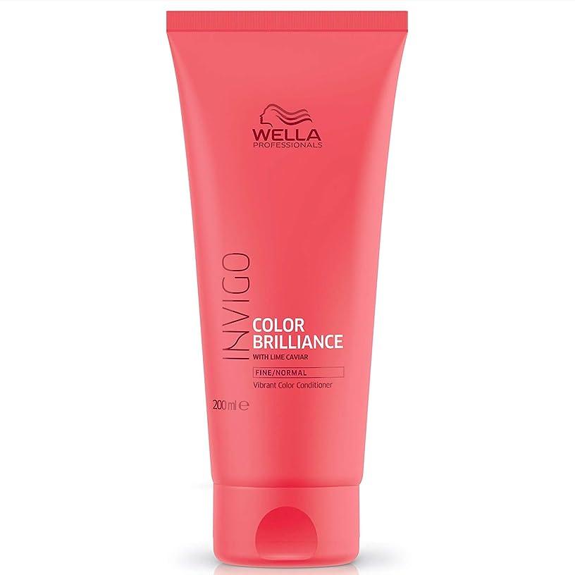 干渉するパール検出器ウエラ インヴィゴ ファイン/ノーマル カラー コンディショナー Wella Invigo Color Brilliance With Lime Caviar Fine/Normal Vibrant Color Conditioner 200 ml [並行輸入品]