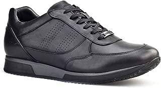 Cabani Kürklü Günlük Erkek Ayakkabı Siyah Analin Deri