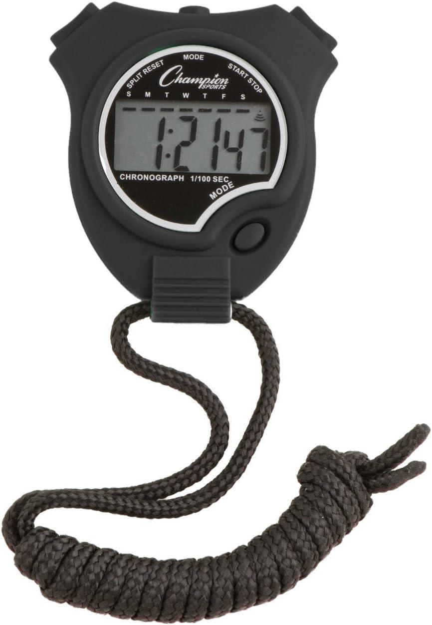 Champion Sports Stopwatch Color: Black (910BK)