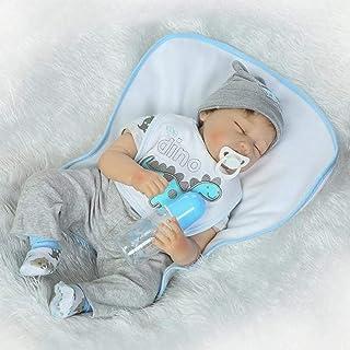 Pełna winylowa silikonowa obudowa prawdziwy dotyk dziecko realistyczne Reborn lalki realistyczne noworodka lalka bobas śpi...