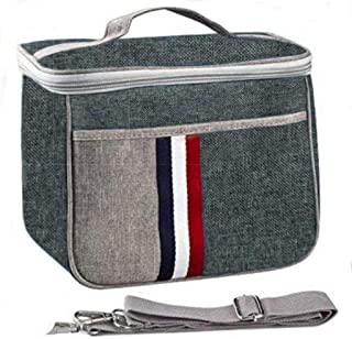 Lunch Bag Insulated Lunch Box Large Portable Cooler Tote bag for Men Women Adult for Office shoulder handbag Smoke Gray Mu...