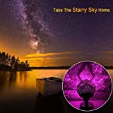 Tisnec Night Light Projector Lamp, Colorful Cosmos&Star Pattern Party Light, 5 Led Bead 5 Lighting Color Change for Woman/Kids/Baby/Children Party,Bedroom