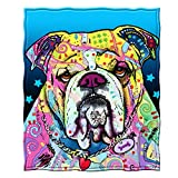 Dawhud Direct Fleece Throw Blanket by Dean Russo (Bulldog)