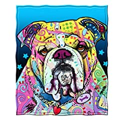 """Ultra-soft, warm and cozy throws are exceptionally durable. Choose from 6 different Dean Russo Fleece Throw Blankets Printed with bright vibrant colors. Perfect for home, at a game or on a picnic Size: 50"""" x 60"""". Officially Licensed Dean Russo artwor..."""