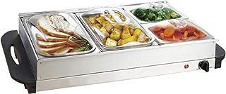 Nova Chauffe-plat électrique pour buffet avec température réglable 45-85 °C, acier inoxydable, couvercle transparent, modè...