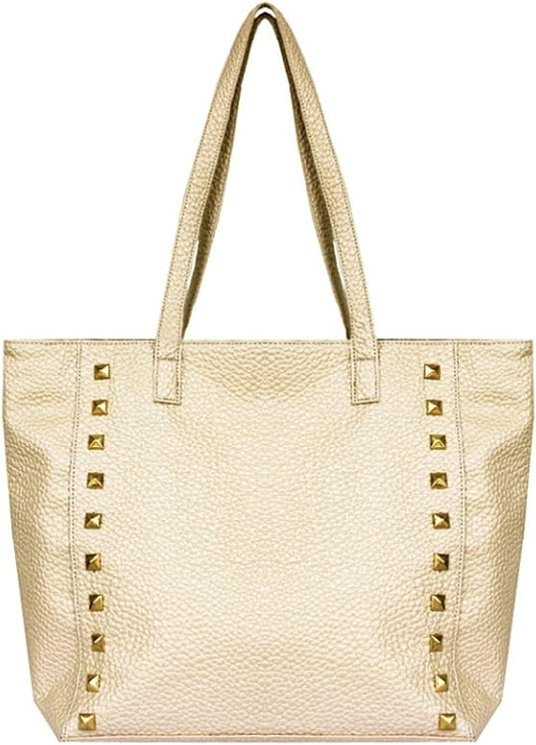 Plum Women's gold Tote Shoulder Bag - Belen