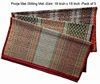 Hand made Chatai, Made of the finest natural fibres to provide soft & smooth finish Handmade, Eco-Friendly, Organic, Ethnic, Non Toxic, Foldable & Travel Friendly Use this mat for Puja/ Meditation / Beach / Picnic / Yoga / Fitness Exercise etc Size: ...