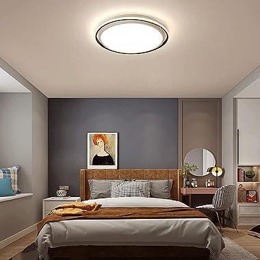 YHBHNB Style Nordique LED Plafonnier Intégré Simple Moderne Éclairage Circulaire Chambre Lampe Créative en Aluminium Balcon C