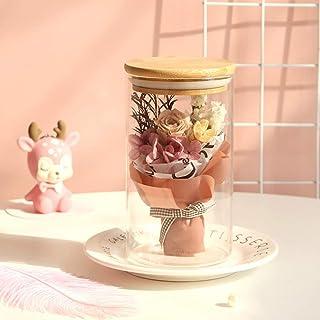 プリザーブドフラワー ガラスがバー バラ ロース 置物 薔薇 枯れない花 アートフラワー フラワーアレンジメント 造花 永遠の花 インテリア 北欧 お新築祝い 母の日 ウェディング お礼 記念日
