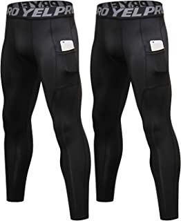 LNJLVI Men Compression Pants 2 Pack Base Layers Sports Tights Leggings