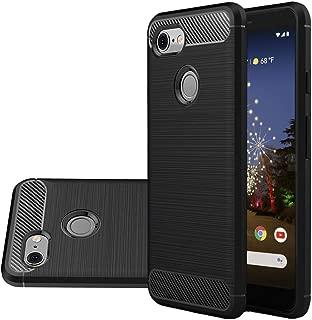 Vinve Carbon Fiber TPU Designed for Google Pixel 3a Case, Slim Shock Absorption Anti-Scratches Flexible Soft Protective Cover Case (Black) …