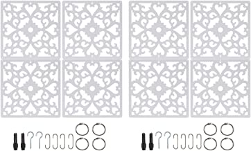 Saim Hanging Room Divider Screens Division Panels Wall Partition Separator for Decorative Bedroom Living Dining Study Setting Room 8Pcs