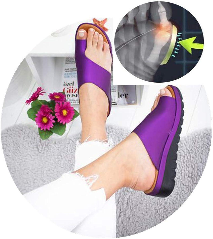 Correction Women Summer Platform Sandals Stylish Thong Flip Flops Ultra Comfort Slippers Toe Loop Flat Sandals