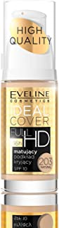 EVELINE IDEAL COVER FULL HD MATT AND COVERING FOUNDATION NO 203 NATURAL 30ML