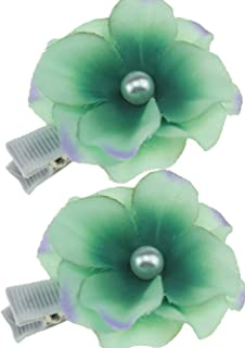 Flairs New York Artisan Flower Hairpin Hair Clip (Mint Green)