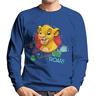 Disney Christmas Simba Let The Holidays Roar Men's Sweatshirt