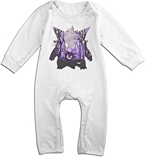 Pokemon Cartoon Gengar Gastly Haunter Baby Onesie Romper Jumpsuit Baby Clothes