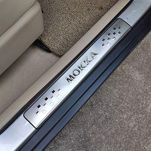 HJHNB 4 Stücke Auto Einstiegsleisten Für Opel Vauxhall Mokka 2013 2019, Trim Scuff Pedal Schwellenabdeckung Schutz Trim Zubehör, Edelstahl