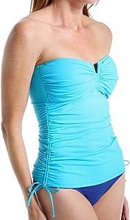 Tommy Bahama Womens Beachglass White Striped Swim Top Separates XL BHFO 0515