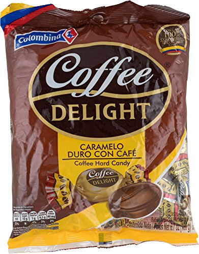 Colombina Coffee Delight 100% Colombian Coffee Hard Candy Pack Of 50 Candies