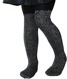 Children Black Cotton Sparkly Baby Girls Glitter Pantyhose Stockings Tights for Baby Girls Kids